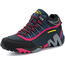 GNEDIAE Zapatillas de senderismo Hombre Mujer Big Size Leather Lace-ups Trail Camping Sneaker para Outdoor Walking Travel Zapatos Botas de Trabajo 35-46