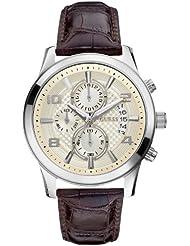 Guess Herren Armbanduhr Analog Leder