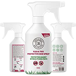 Cooper And Gracie C&G Cruelty free Pet Care - Spray de protección contra pulgas y garrapatas para perros, no testado en animales