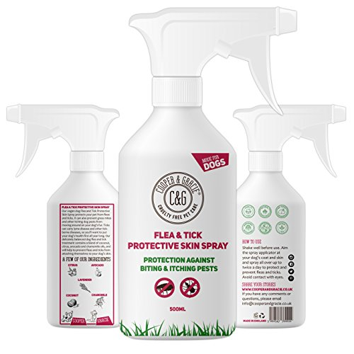 Dog Fleas Protection Spray – Tick and Flea Treatments for Dogs – Best Grooming Coat Conditioner