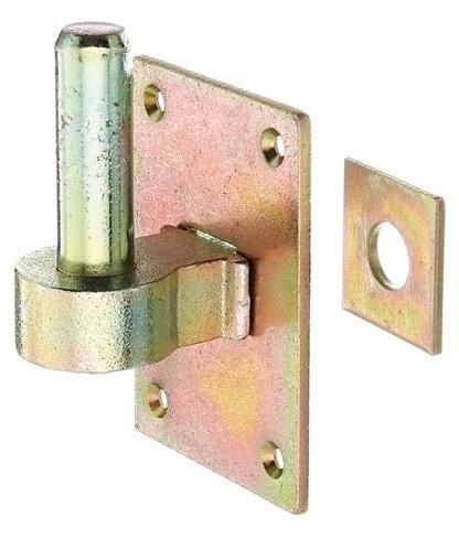 GAH-Alberts 311926 Kloben zum Durchschrauben, ohne Stütze, galvanisch gelb verzinkt, Ø20 mm, Vierkantscheibe: 110 x 80 mm