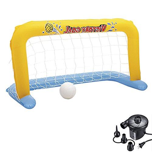�ball Tor Net Pool Wasserball Spiel Familie Spaß Fußball Spiel Torpfosten Mit Elektrische Luftpumpe Sommer Wasser Spielzeug Für Erwachsene Und Kinder,3Pieces ()