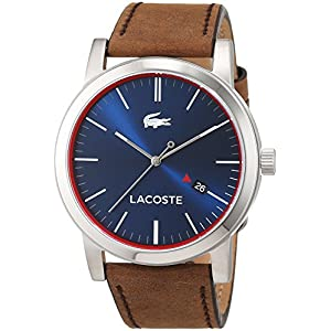 Lacoste Mens Quartz Watch, Analogue Classic Display and Leather Strap 2010848