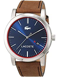 Lacoste Herren-Armbanduhr Analog Quarz Leder 2010848