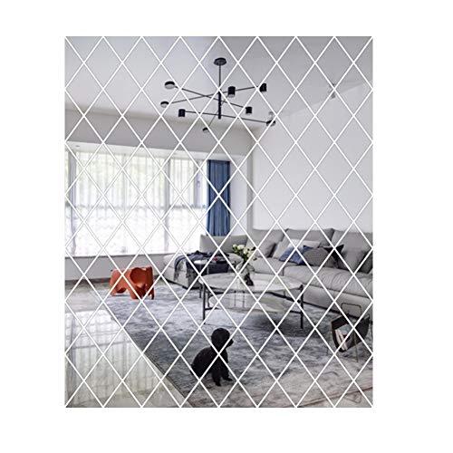 WEISY Spiegel wandaufkleber, gespleißt Spiegel Kunst DIY Hause dekorative acryl Spiegel Wand Blatt Kunststoff Spiegel Fliesen für zuhause Wohnzimmer Schlafzimmer dekor