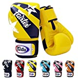 Fairtex Muay Thai Boxing Gloves BGV1 Limited Edition Nation Print - Red Size : 10 12 14 16 oz. Training & Sparring Gloves for Kick Boxing MMA K1 (Yellow, 14 oz)