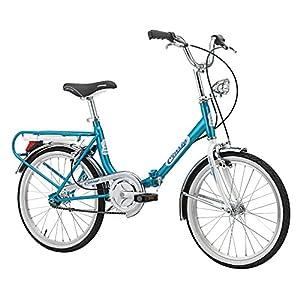 """51Y4oFyCkHL. SS300 Bici pieghevole Cicli Cinzia Firenze, telaio in acciaio, ruote da 20"""", taglia 31"""
