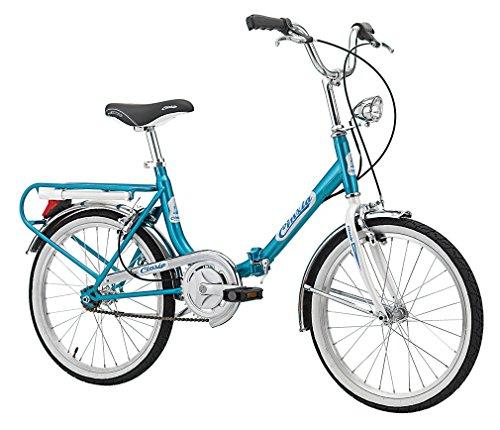 Klapprad Faltrad Florence Old Style 20 Zoll Weiß Blau