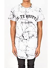 T-shirt oversize Je te quitte Sixth June marbre noir 1633V