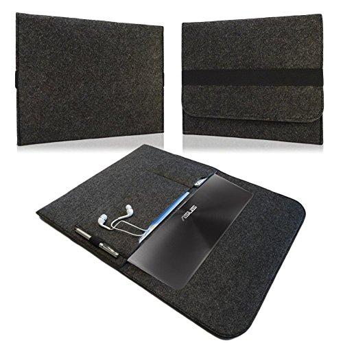 NAUC Tasche Hülle f Lenovo Yoga Tablet 2 Pro 13,3 Schutzhülle Sleeve Filz Case Cover, Farben:Dunkel Grau