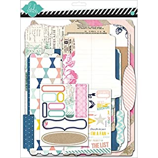 American Crafts Heidi Swapp Mixed Media Scrapbook Album Kit 9 x 11.5-inch, Cardstock Memory Files