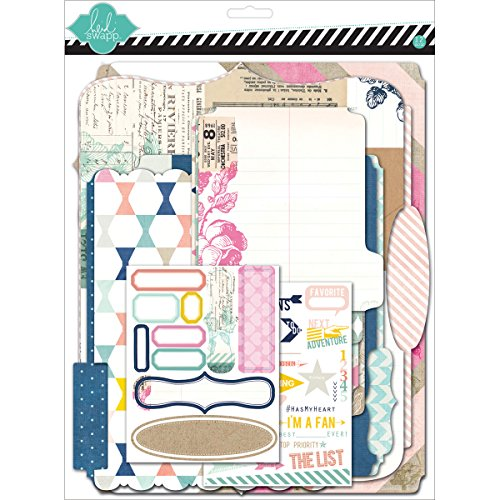 American Crafts Papier Heidi Swapp 10268595 Schablone zum Mixed Media Scrapbook Album Kit 9 Zoll x 29,2, tonkartons Memory Dateien -
