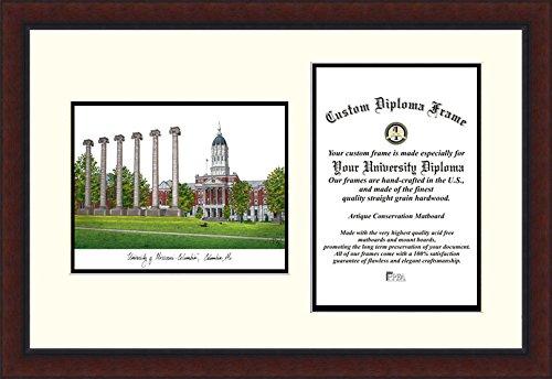 Campus Images CAMPUS Bilder Universität von Missouri Legacy Gelehrten Diplom Rahmen, 27,9x 21,6cm - Missouri Rahmen