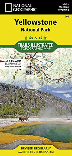 Yellowstone National Park: National Geographic Trails Illustrated National Parks: NG.NP.201 (National Geographic Trails Illustrated Map, Band 201)