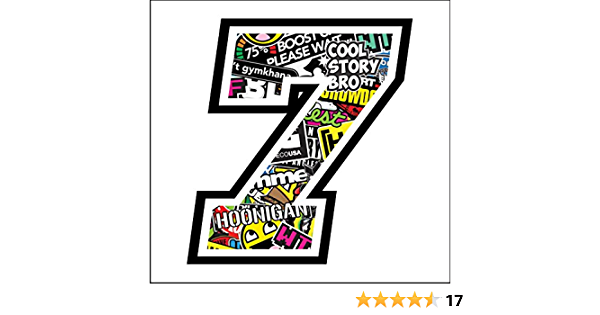 Sticker Number 7 Race 12 Cm Sticker Bomb Rennen Cross Track Auto Motorrad Aufkleber Auto