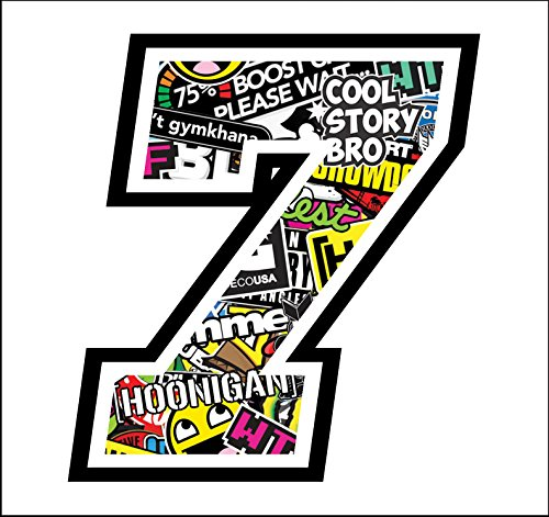 Adhesive Race - 7-12 cm - Sticker Bomb - Cross Pista de...