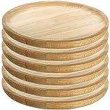 Ruibal–Assiettes pour pieuvre en bois–Set de 6 Ø 28 cm