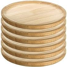 Ruibal - Platos para Pulpo de Madera - Set de 6 - Ø 28 cm