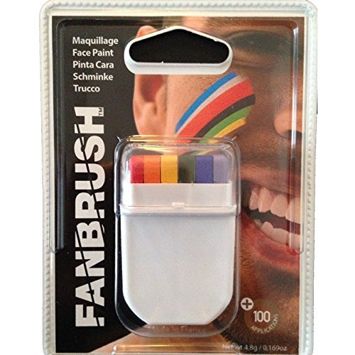 Rainbow Flag Gay Pride Face Paint - Ideal For Marches and Events by 1000 Flags