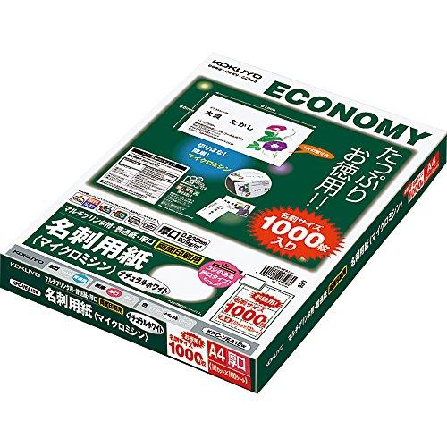 Kokuyo Mehr Drucker Visitenkarte Papier doppelseitiges Mikro N_hmaschine Normalpapier, Dickes Natural White A4 100 Blatt KPC-VEA15W (Japan-Import)