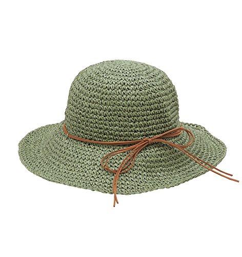 Urbancoco Damen klappbare Kappe flexible Sommer Strand Sonne Hüte (army (Hat Grüne Derby Kind)
