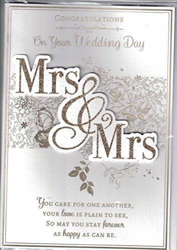 Mrs /& Mrs Tracey Russell Same Sex//Lesbian Wedding Day Card Brides