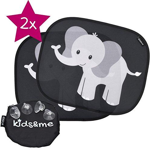 kids&me Premium Auto Sonnenblende für Baby und Kind mit TOP Saugnäpfen