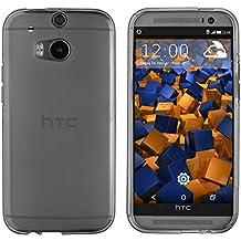 mumbi Cover HTC One (M8) Modello 2014, Trasparente, Nero
