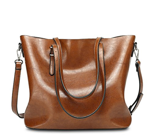 VANCOO Womens Leder Geldbörse Damen große Tasche Schulter Handtasche 1108