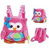 Babyrucksack MUYOS Kinderrucksack Mädchen Kindergarten Rosa Backpack Schultasche für...