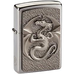 Zippo - Mechero Mechero, Dragon 3D, 3-D Emblema, Cromo