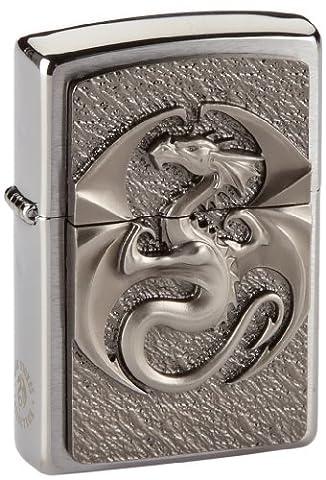 Zippo lighter, Dragon, 3-D Emblem, Chrome, NEW, MIB