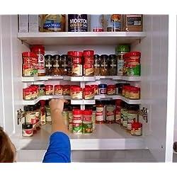 Vinallo – Estante apilable para especias, organizador de tarros, proporciona más almacenamiento en la despensa