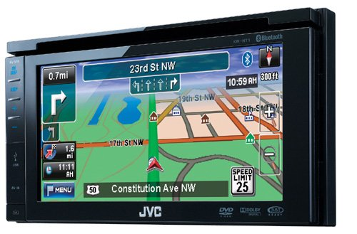 JVC KW NT 1 Auto-Navigationssystem (DVD-Player, 15,5 cm (6,1 Zoll) Touch Panel-Monitor, Bluetooth, RDS-TMC-Tuner, USB 2.0) schwarz