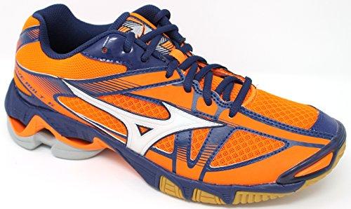 Mizuno Wave Bolt, Scarpe da Pallavolo Uomo Multicolore (Orangeclownfish/White/Bluedepths)