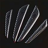 Dargura 4pcs Anti-Scratch-Schwarze Carbon-Faser-Auto-Tür Kantenschutz Guards Borte Strip Aufkleber Bars