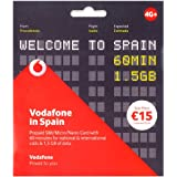 Tarjeta SIM Vodafone in Spain Prepago con 60 min y 1,5 Gb