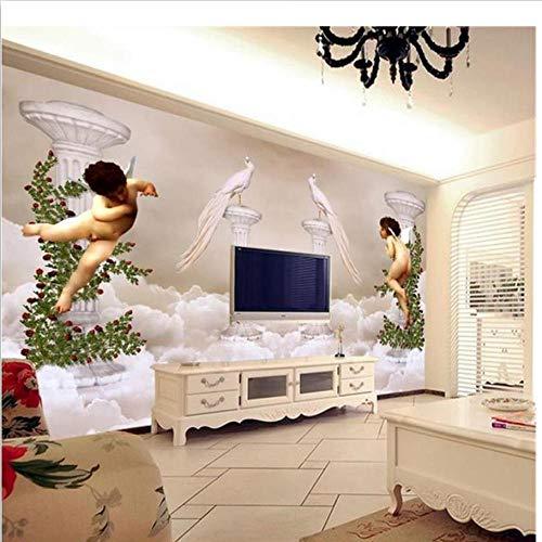 benutzerdefinierte 3d fototapete wohnzimmer wandbild engel rom spalte 3d foto bild sofa tv hintergrund vliestapete für wand 3d-450x300cm (Sofa Bilder)