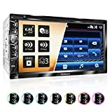XOMAX XM-2D6904 Radio para Coche I 17,7cm 6,95'' Pantalla Táctil I Vídeo y Audio: MP3 Incl ID3 Tag, WMA, MPEG4, JPG etc. I Bluetooth Manos Libres I CD/DVD | USB I SD I 2 DIN
