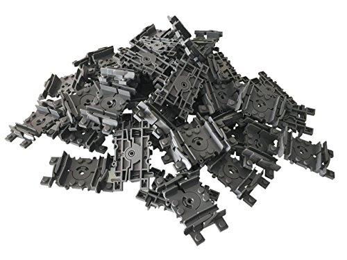 Lego City kompatibel Eisenbahn Schienen 100 Stück Flex Beweglich Schienen ( flexible Schienen )
