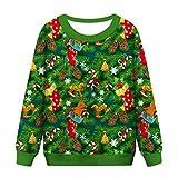 YSFWL Damen Sweatshirt Weihnachtslustiges Kapuzenpullover Weihnachtsglocke Weihnachten Ei Funny...