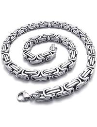 KONOV Schmuck Herren-Kette, Edelstahl Biker Königskette Halskette, Silber, Breite 8mm, Länge 55cm