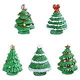 FITYLE Resina Artigianato Natale Figurine Fairy Giardino Casa Decorazione Xmas Albero - Verde Chiaro