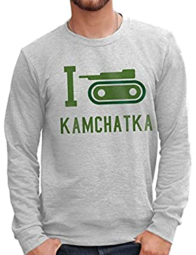 MUSH Felpa Girocollo I Love Kamchatka - Risiko - Games Dress Your Style