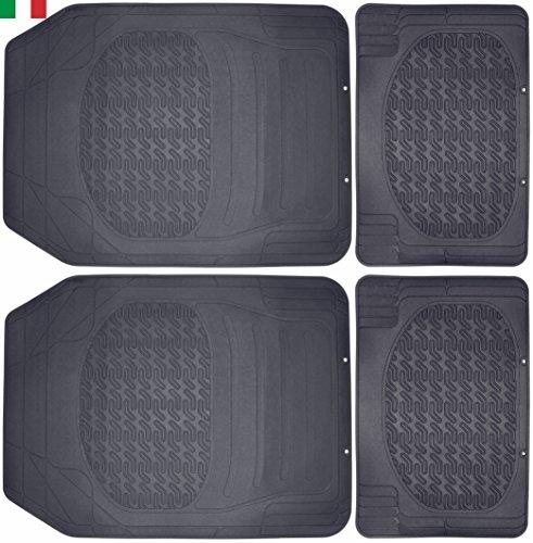 Cenni 25291 Tapis Auto en Caoutchouc, Universels et Découpables, Lot de 4, Made in Italy
