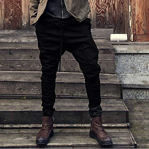 b97cc1783 PrevNext. 1. 2. 3. 4. Invierno Pantalones Largo Hombre Pantalón Deportivo  Suelto Casuales Jogger Hip Hop Estilo Urbano Chándal de Hombres con Cinturón  ...
