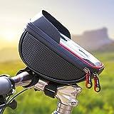"""Borse Bici iRegro Bicicletta Borsa da Manubrio Porta Telefono per Bicicletta, Adatto per il Telefono Mobile con Dimensione Inferiore a 5.8"""", Impermeabile Anteriore Telaio Borse"""
