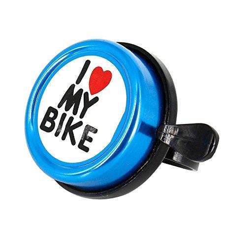 Fahrradklingel I Love my Bike aus Aluminium & Kunststoff in blau