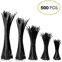 Mture bridas para cables 500 pcs Negro 2,5 * 100/2,8 * 150/2,5 * 160/3,6 * 200/3,6 * 300 mm