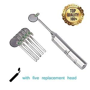 dentistas: 6 Psc Kits de Cuidado Dental para Limpieza de Dientes Boca Espejo Instrumentos U...